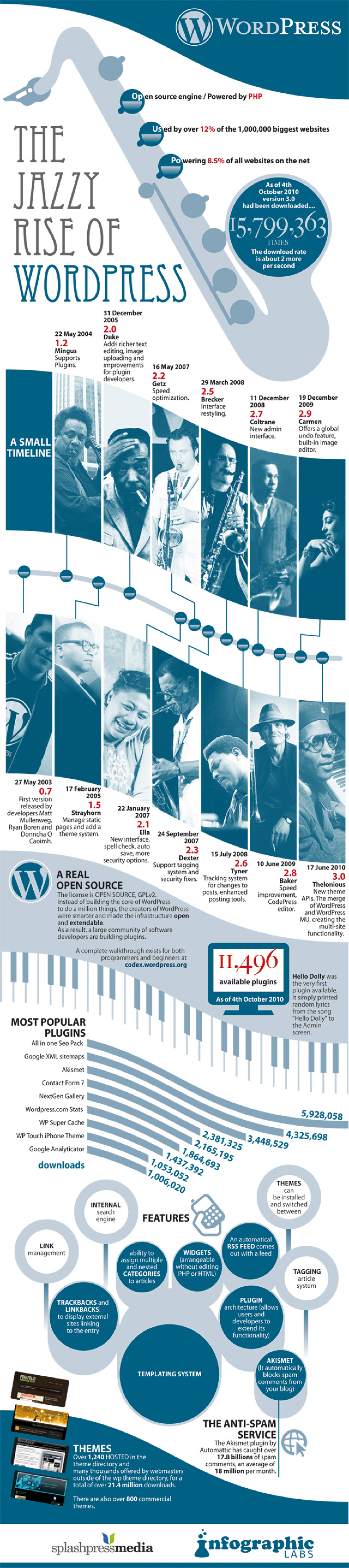 The Jazzy Rise of WordPress  Infographic