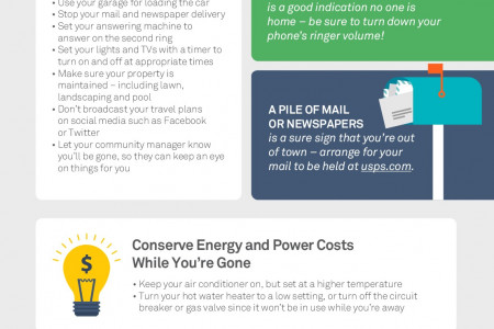 The Key To A Worry-Free Vacation Infographic