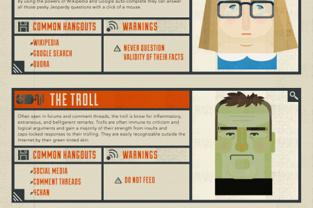 The Many Faces of the Internet User Infographic