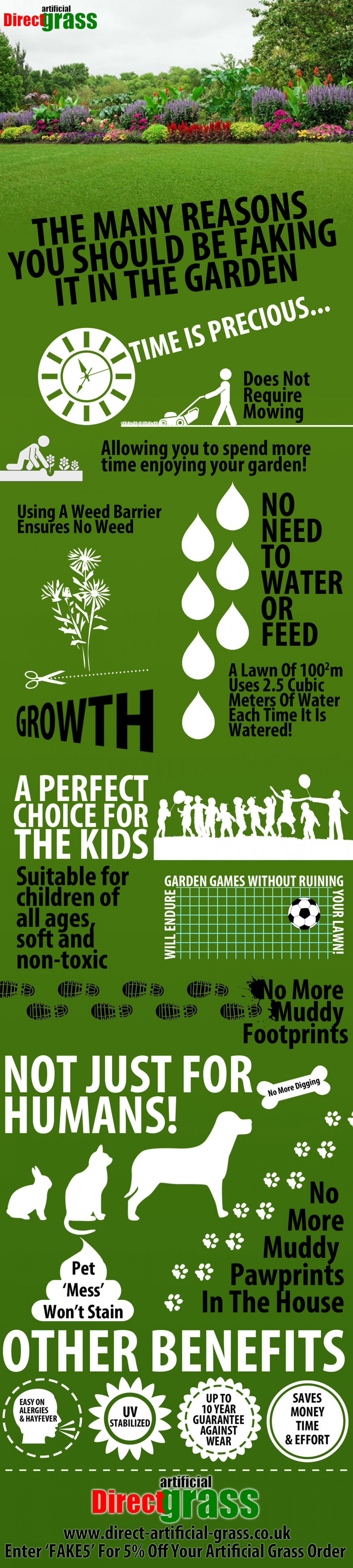The Many Reasons You Should Be Faking It (In The Garden) Infographic