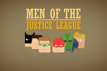 The Men of the Justice League Infographic