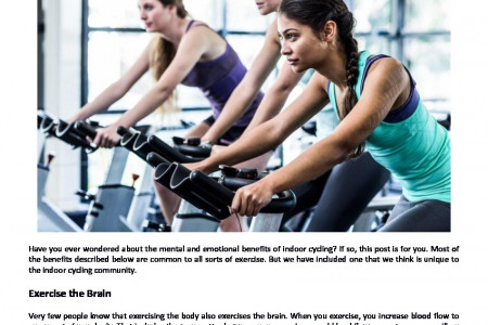The Mental and Emotional Health Benefits of Indoor Cycling Infographic