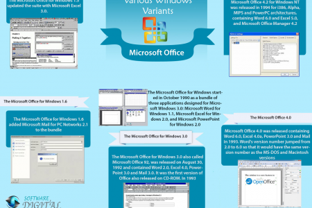 The Microsoft Office for Various Windows variants Infographic