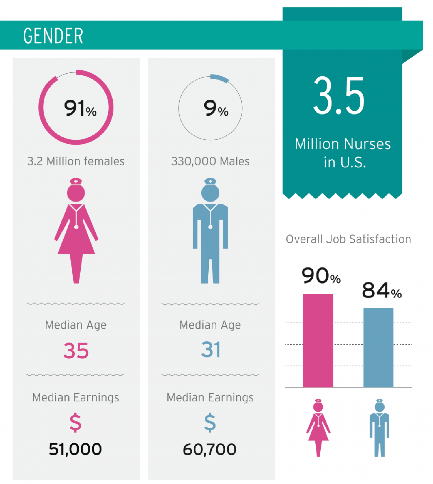 The Modern Nurse: Exploring Today's Diversity in the Nursing Profession Infographic