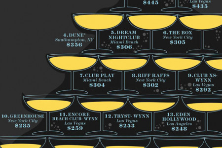 The Most Expensive Nightclubs Infographic