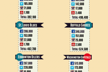 The Most Popular Team According to their Social Network Sites Infographic