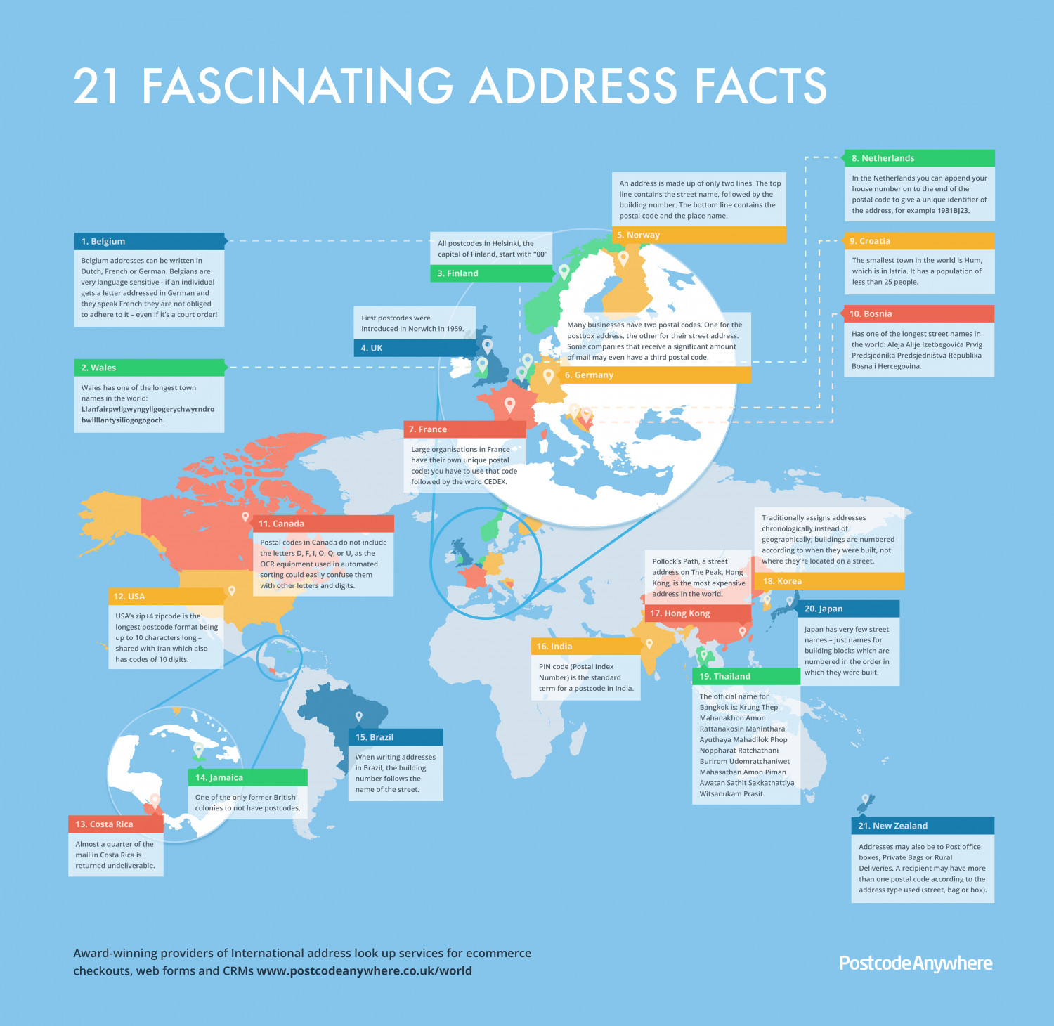 21 Fascinating Address Facts Infographic
