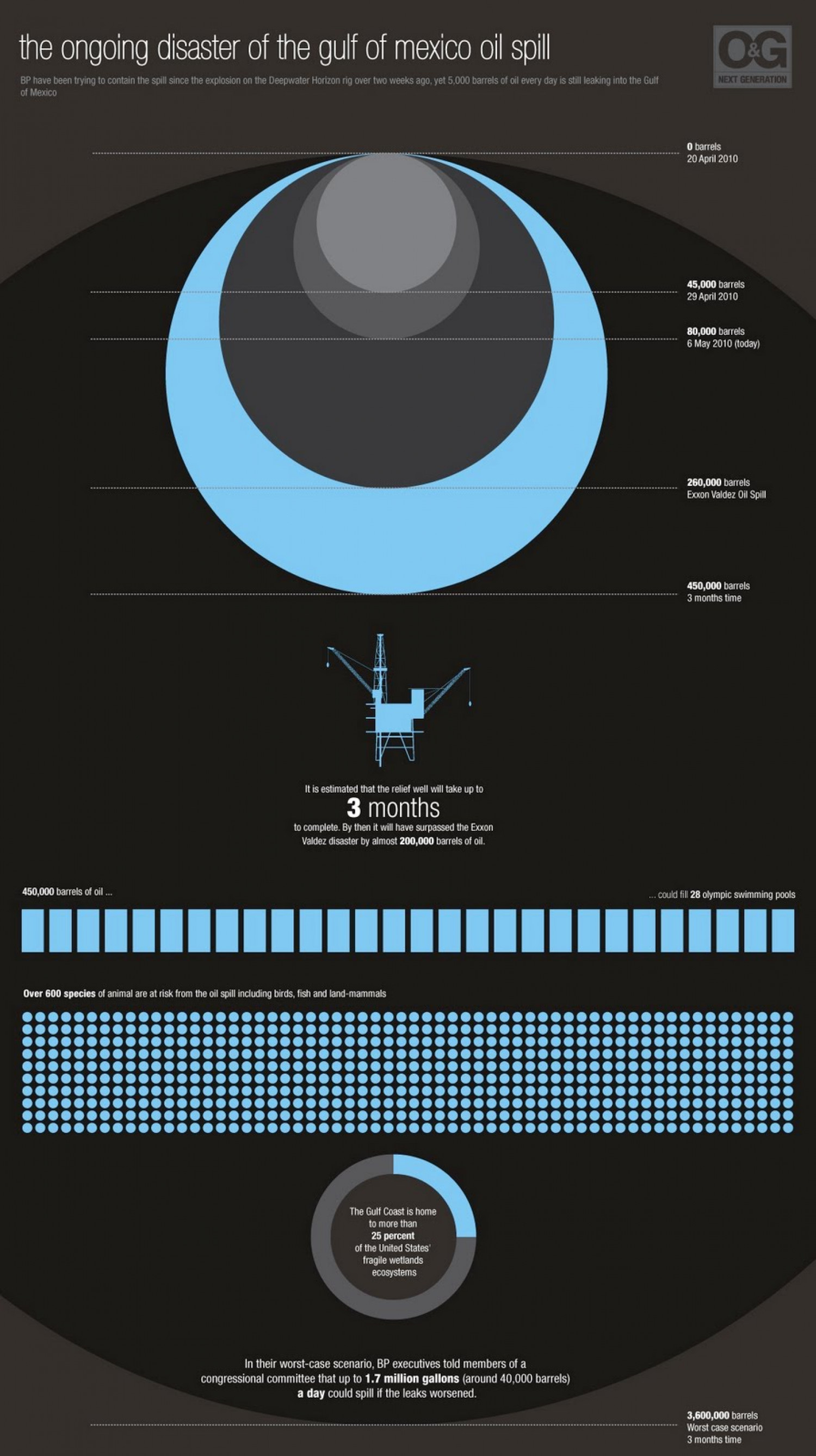 The Ongoing Disaster of the Gulf of Mexico Oil Spill  Infographic