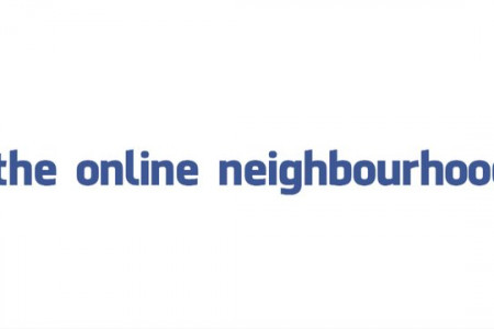 the online neighbourhood // video pitch Infographic