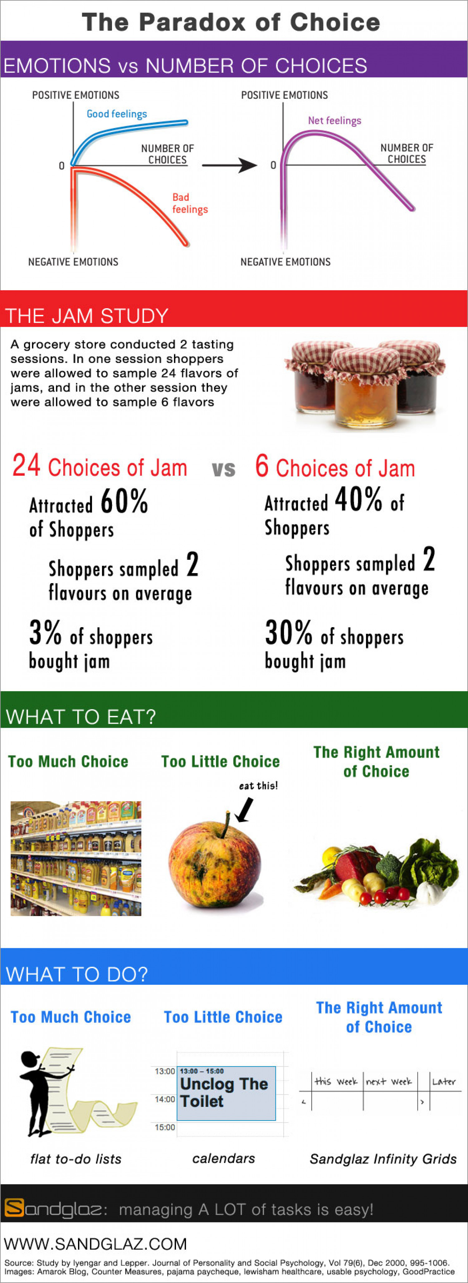 The Paradox of Choice Infographic