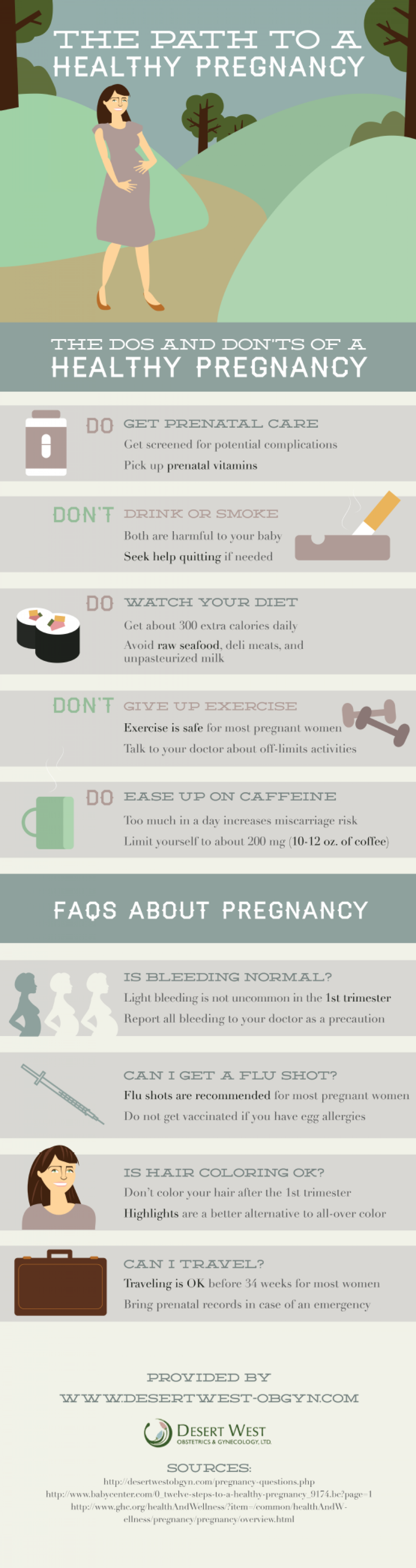 The Path to a Healthy Pregnancy  Infographic