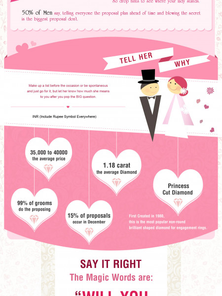 The Perfect Marriage Proposal Infographic