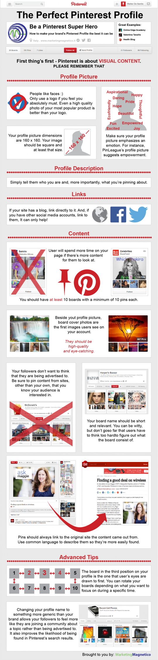 The Perfect Pinterest Profile
