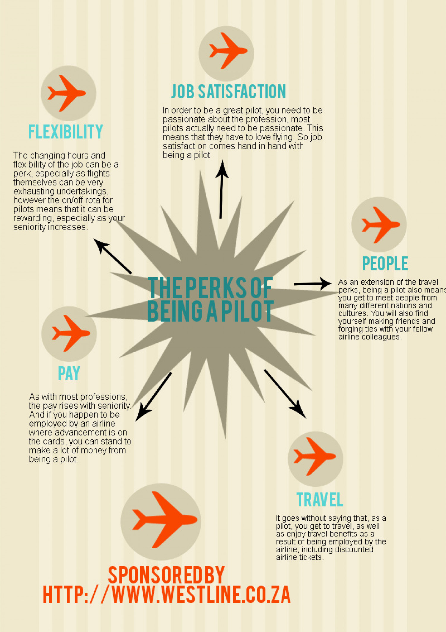 The Perks of Being A Pilot Infographic