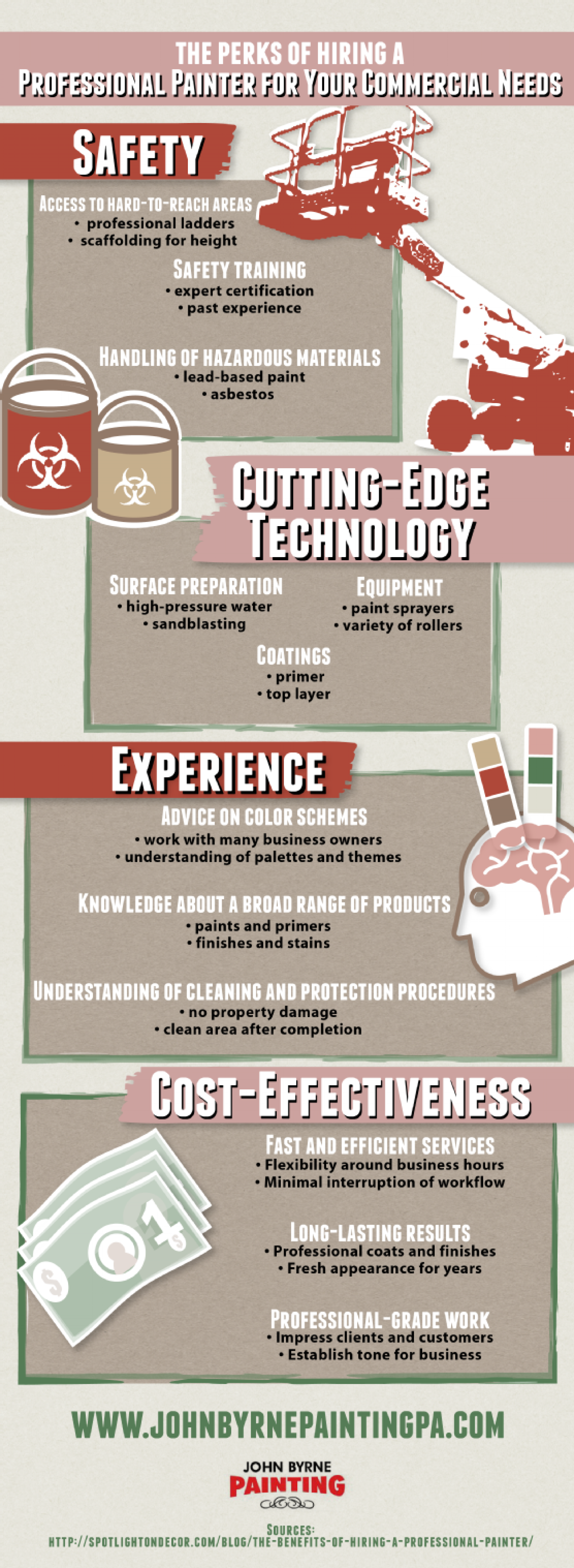 The Perks of Hiring a Professional Painter for Your Commercial Needs Infographic