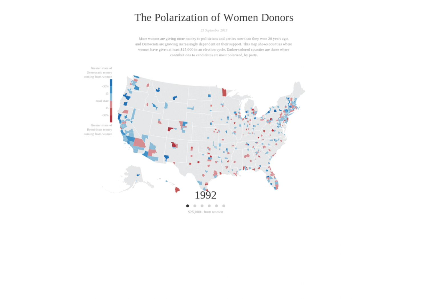 The Polarization of Women Voters Infographic