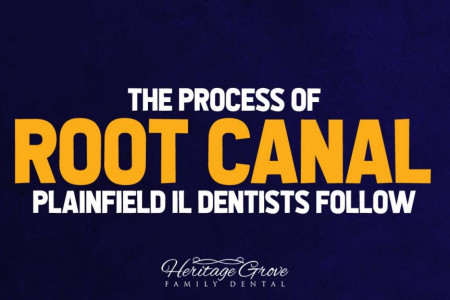 The Process of Root Canal, Plainfield IL Dentists Follow Infographic