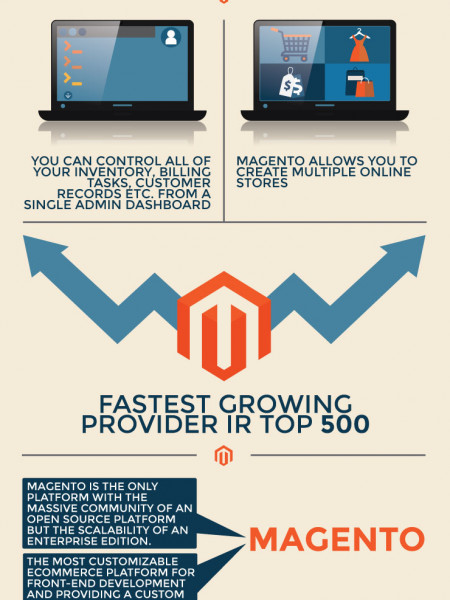 The Prominence of Magento  Infographic