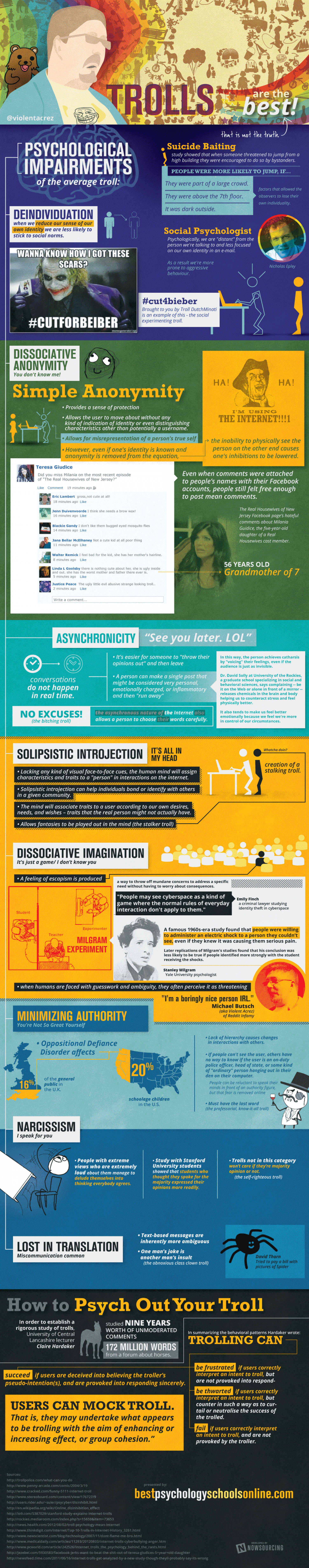 The Psychology of an Internet Troll Infographic
