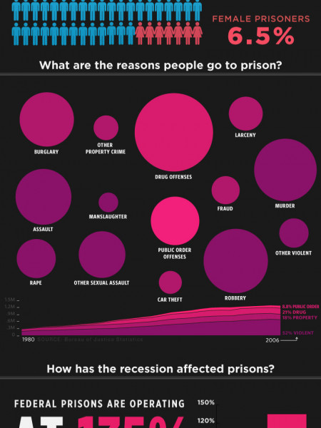 The Recession and America's Prisons Infographic