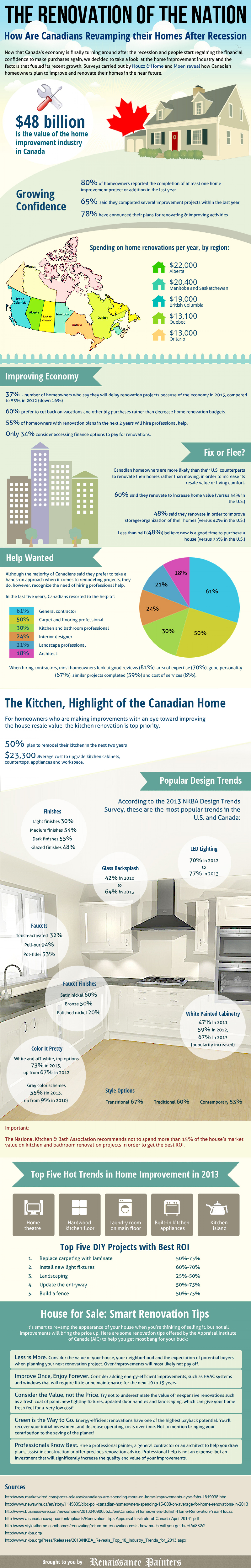 The Renovation of the Nation Infographic