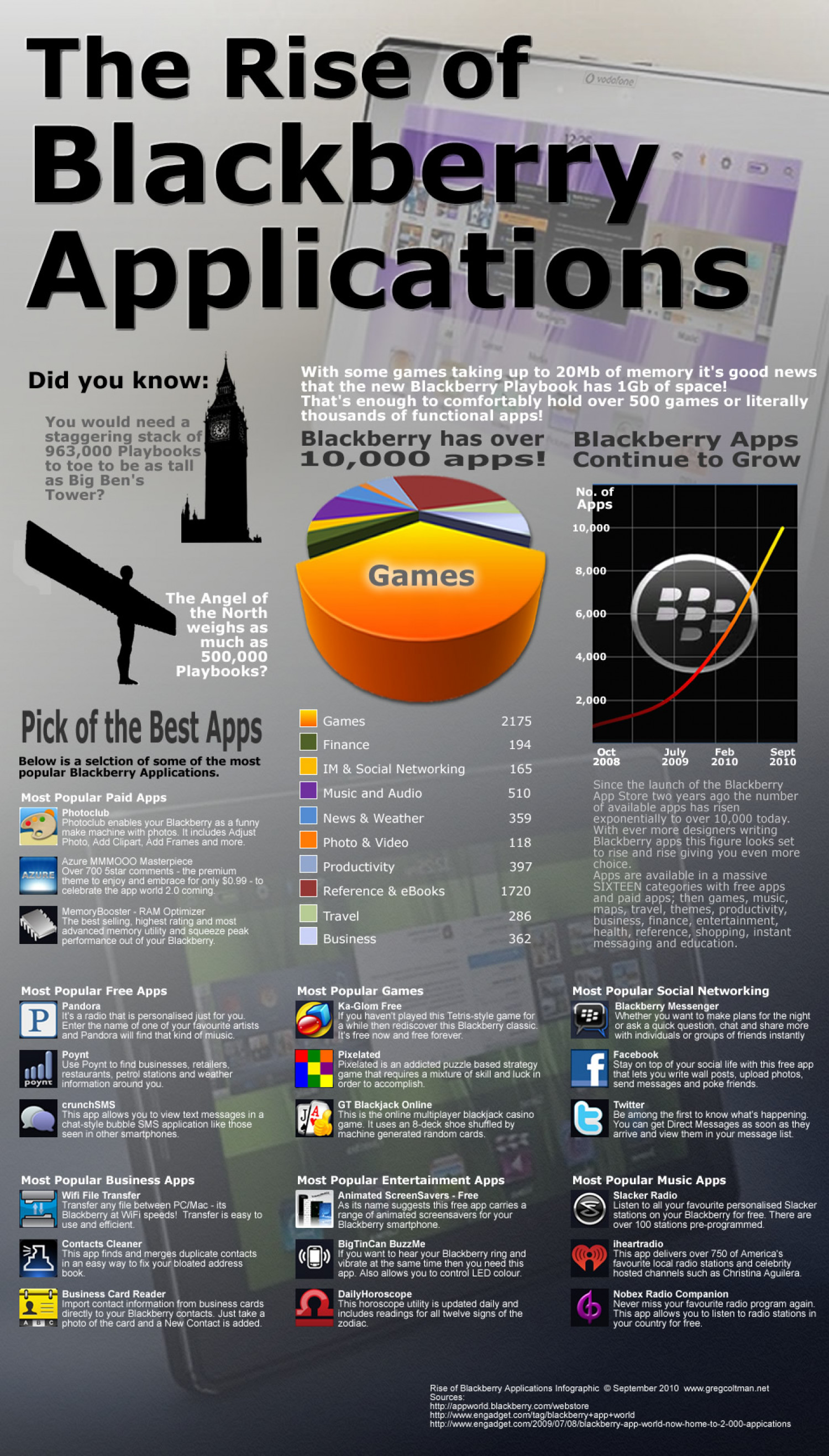 The Rise of Blackberry Applications Infographic