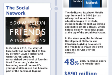 The Rise of Facebook - Happy 10th Birthday Infographic