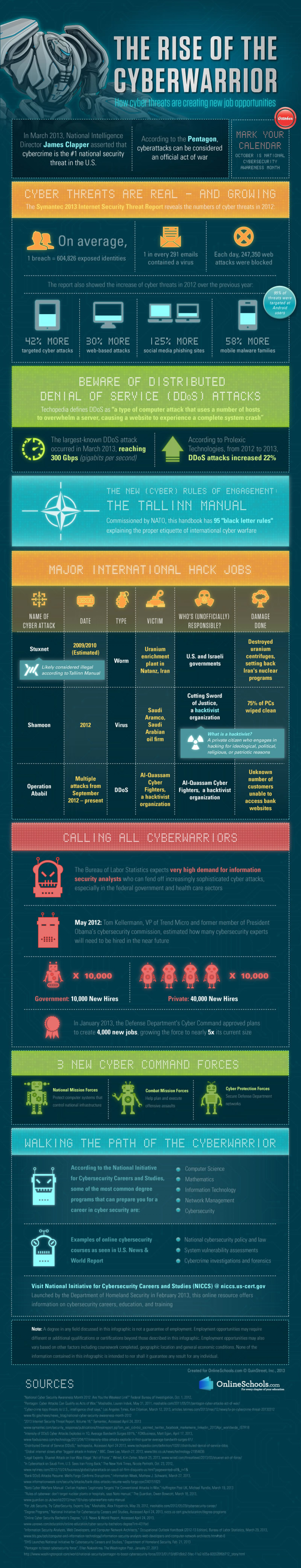 The Rise of the Cyberwarrior Infographic