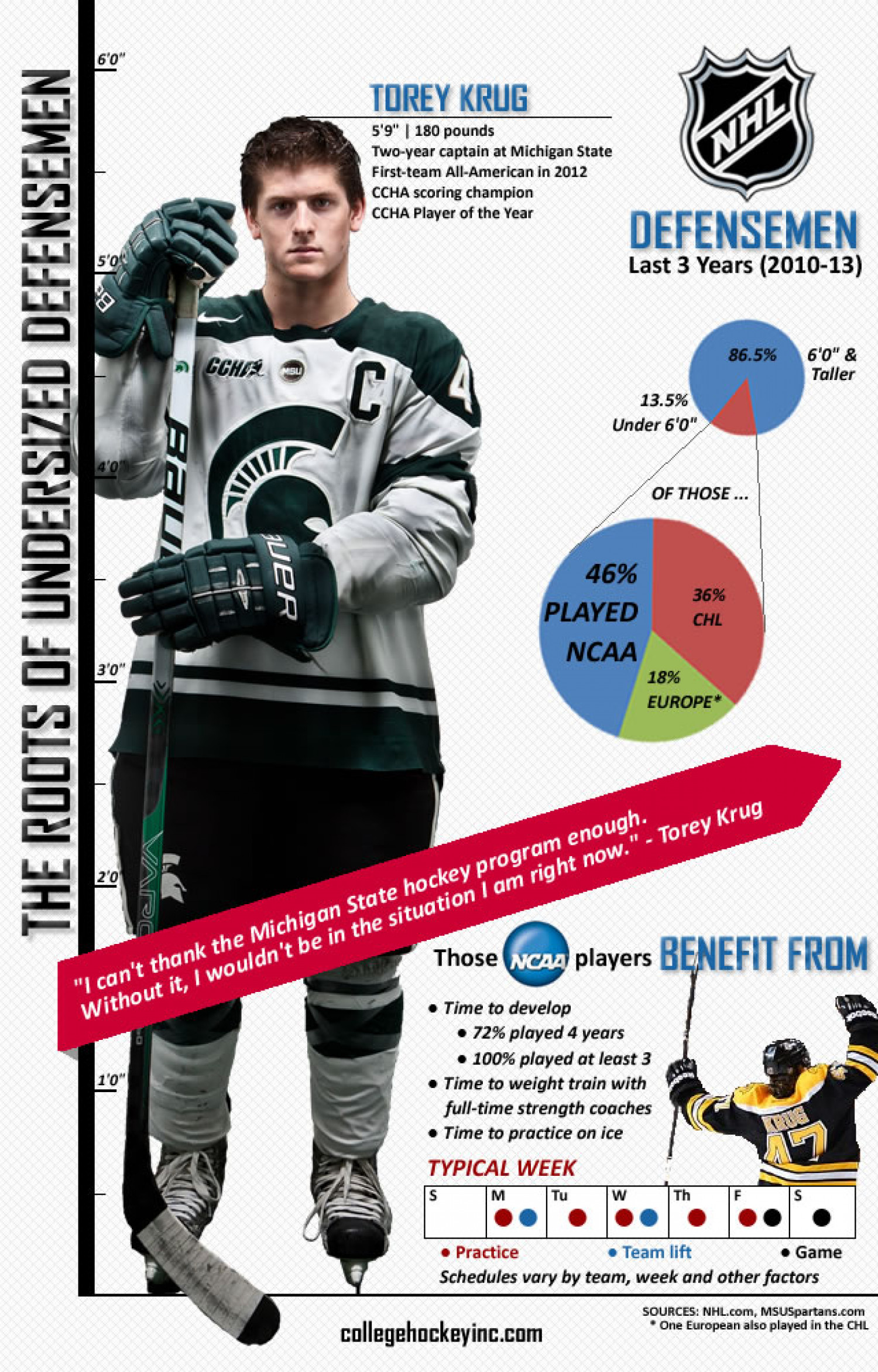 The Roots of Undersized Defensemen Infographic