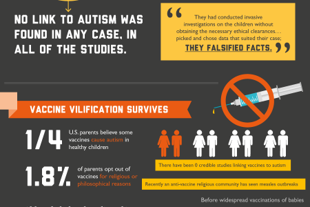 The Science Facts about Autism and Vaccines Infographic