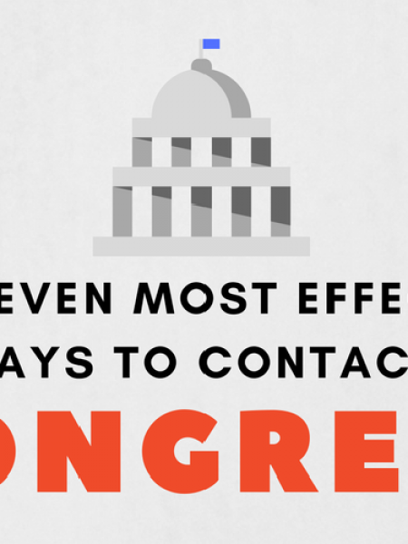 The Seven Most Effective Ways To Contact Congress Infographic
