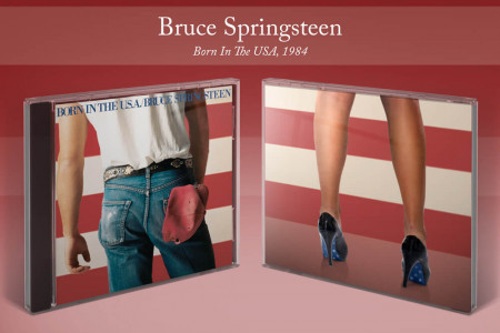 The Shoes Behind the Album: Bruce Springsteen Infographic