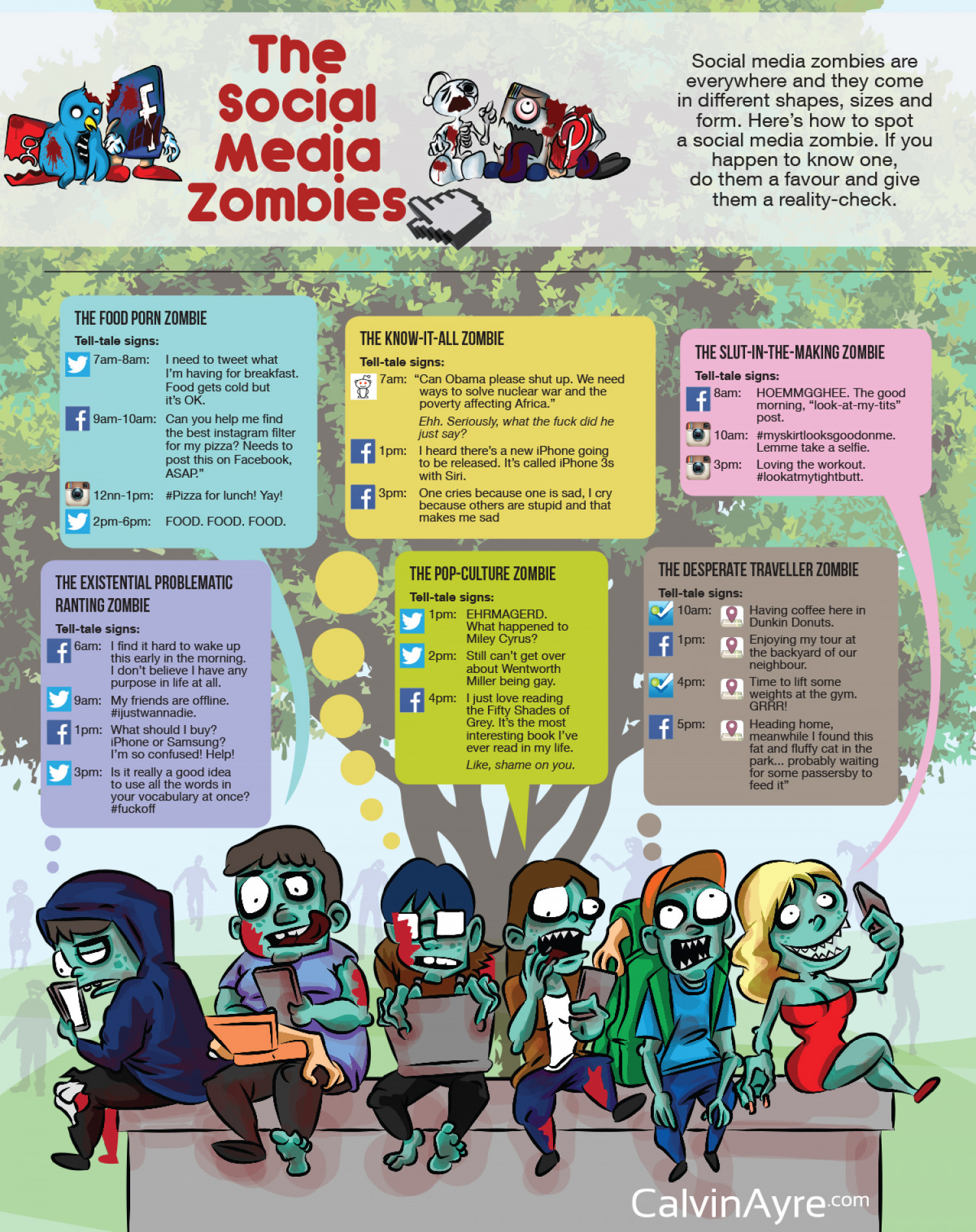 The Social Media Zombies Infographic
