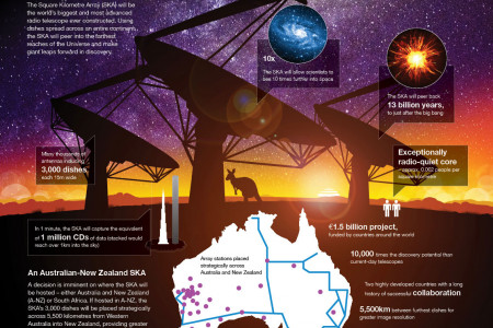 The Square Kilometre Array: The world's biggest telescope Infographic