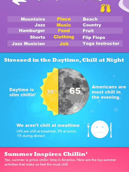 "The ""State Of Chill"" In America  Infographic"