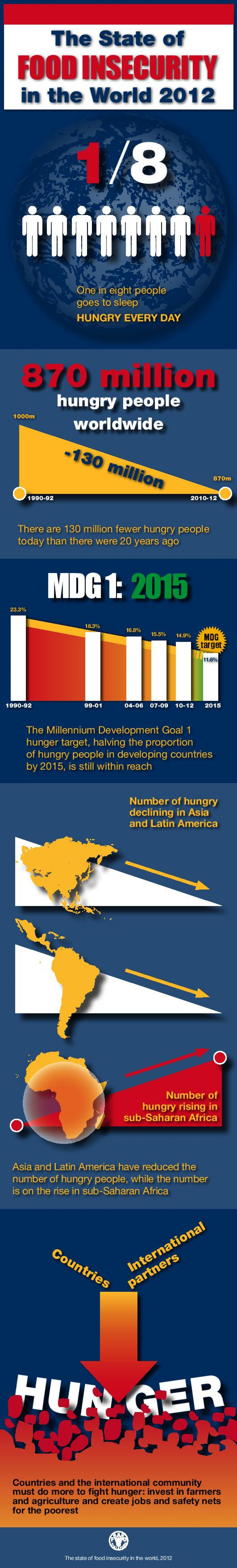 The State of Food Insecurity in the World 2012  Infographic