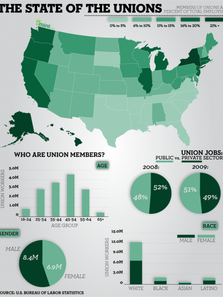 The State of the Unions Infographic