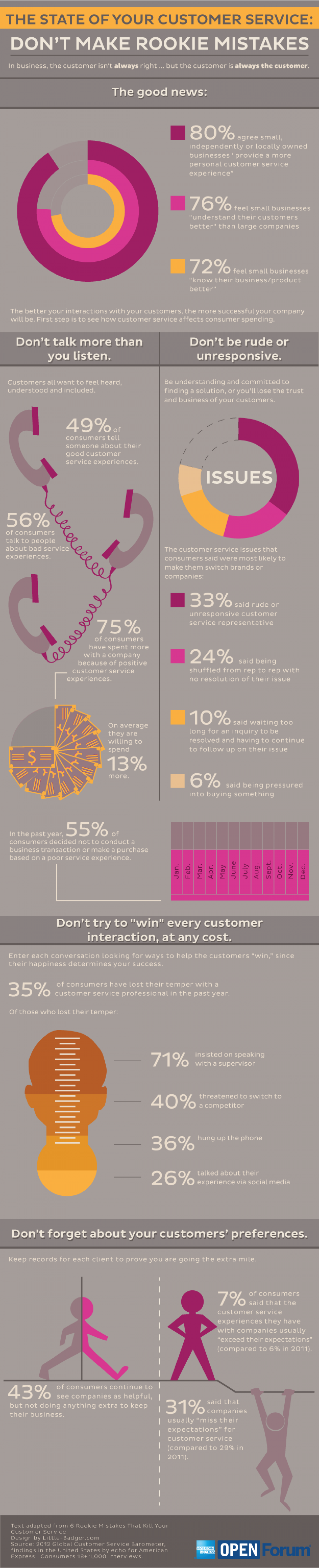 The State of Your Customer Service: Don't Make Rookie Mistakes Infographic