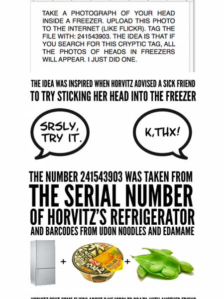 The Story Behind Head in a Freezer Infographic