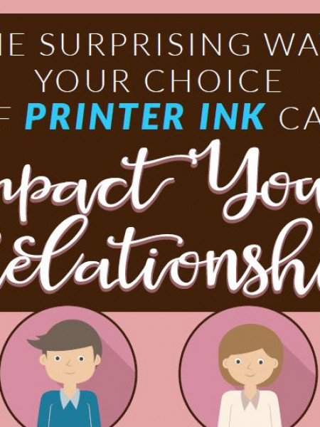 The Surprising Ways your Choice of Printer Ink can Impact your Relationship Infographic
