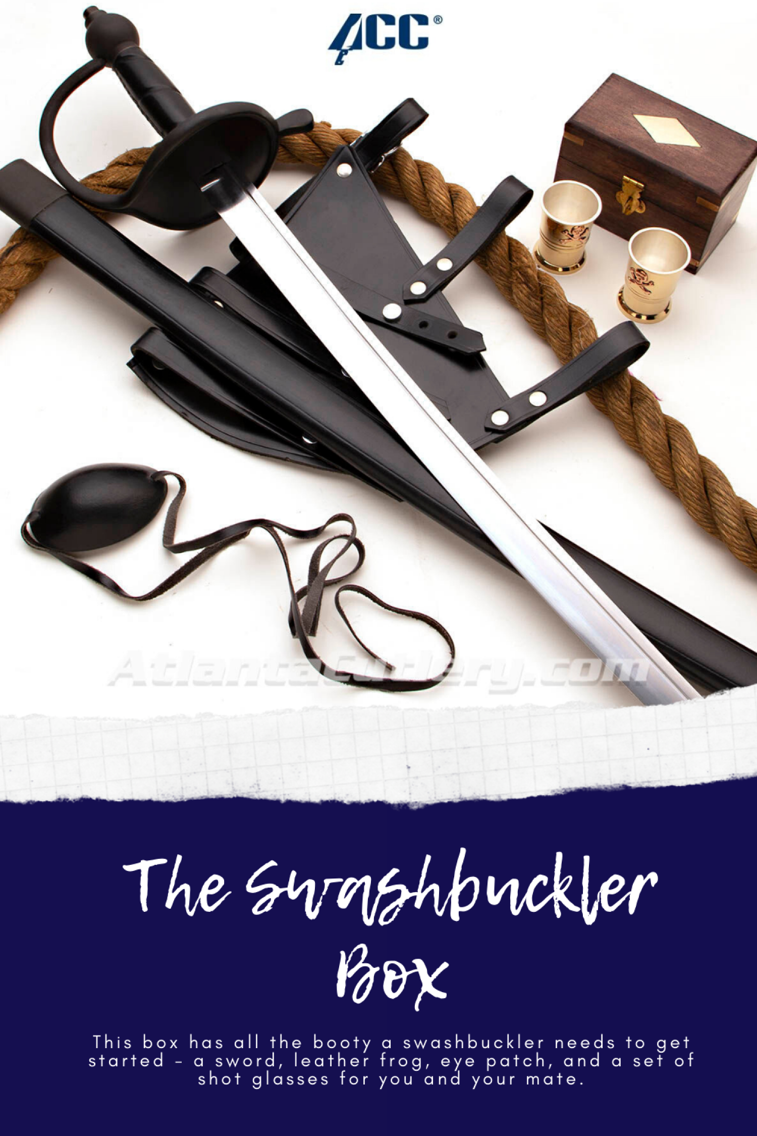 The Swashbuckler Box Infographic