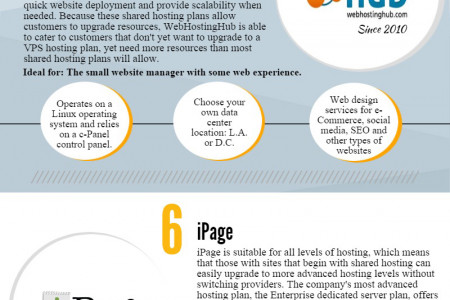 The Top 10 Web Hosting Companies Infographic