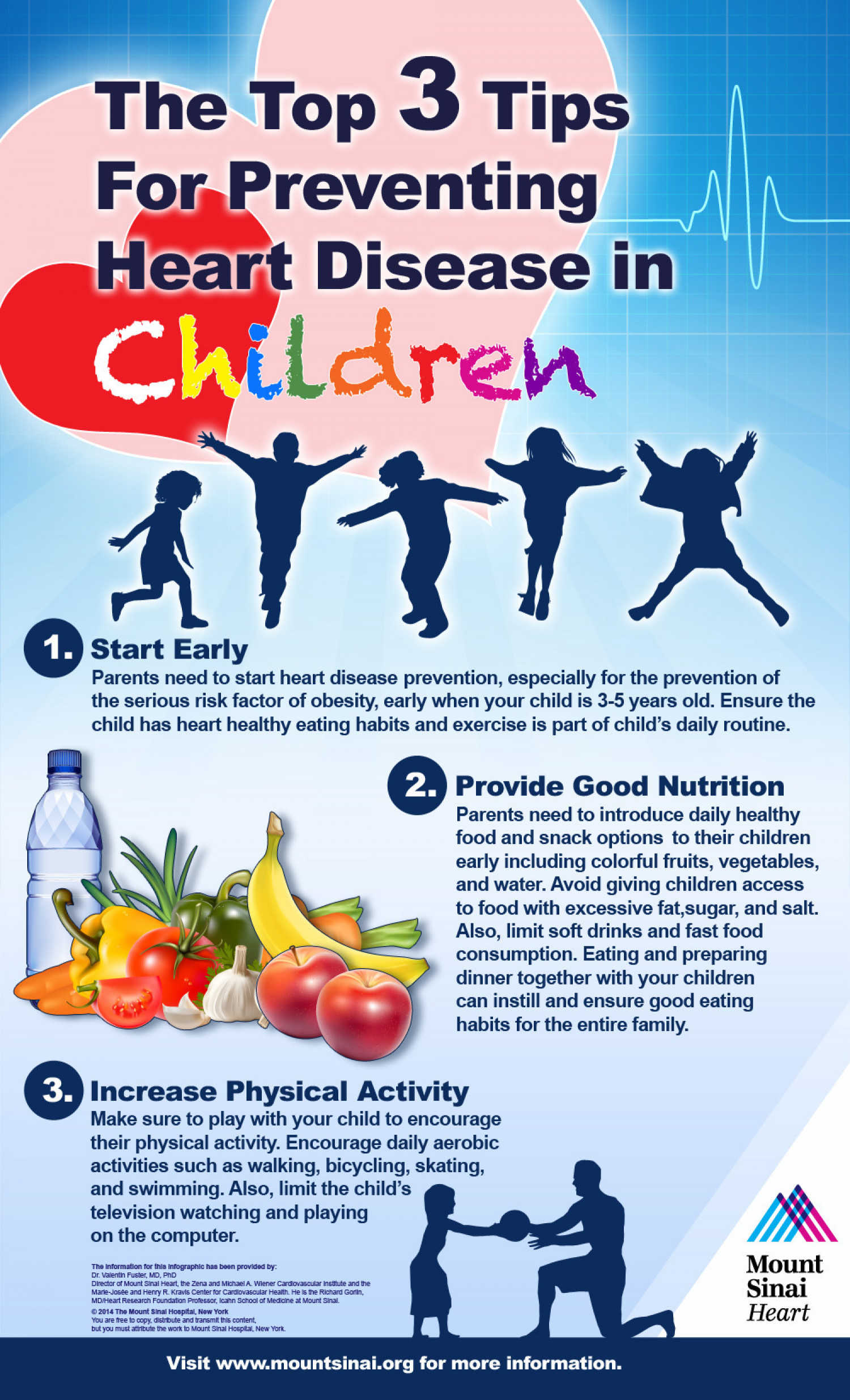 The Top 3 Tips for Preventing Heart Disease in Children Infographic