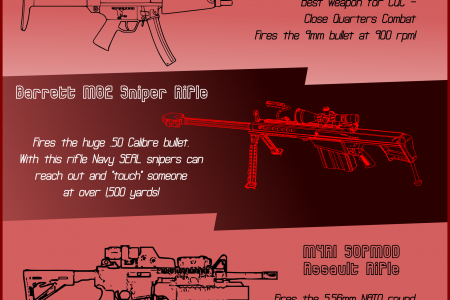 The Top 5 Navy SEALs Weapons Infographic