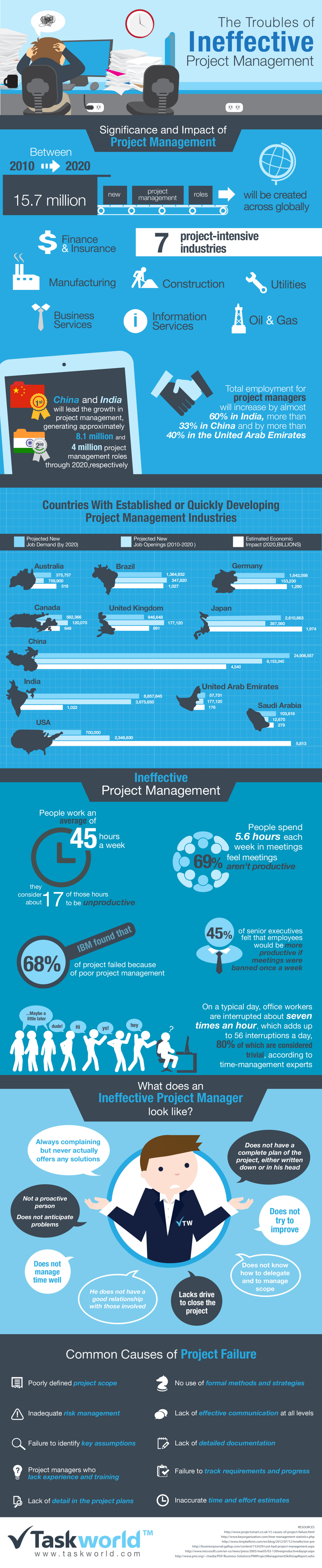 The Troubles of Ineffective Project Management Infographic