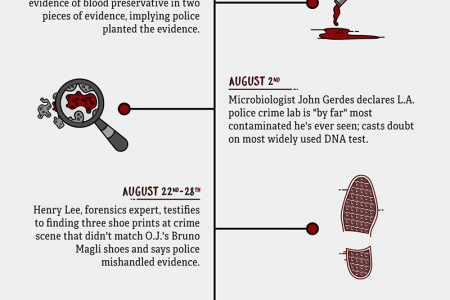 The True Timeline Behind The People Vs. O.J. Simpson! Infographic