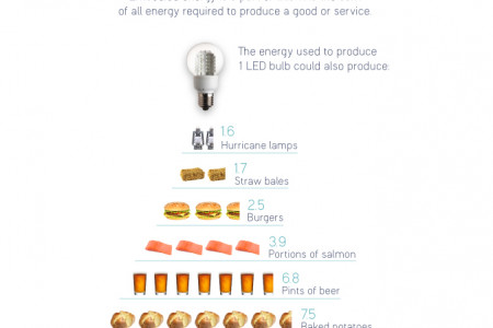 The Truth Behind LED Efficiency Infographic