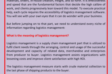 The Ultimate Guide to Afghan Logistic Management Infographic