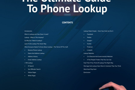 The Ultimate Guide To Phone Lookup. Infographic