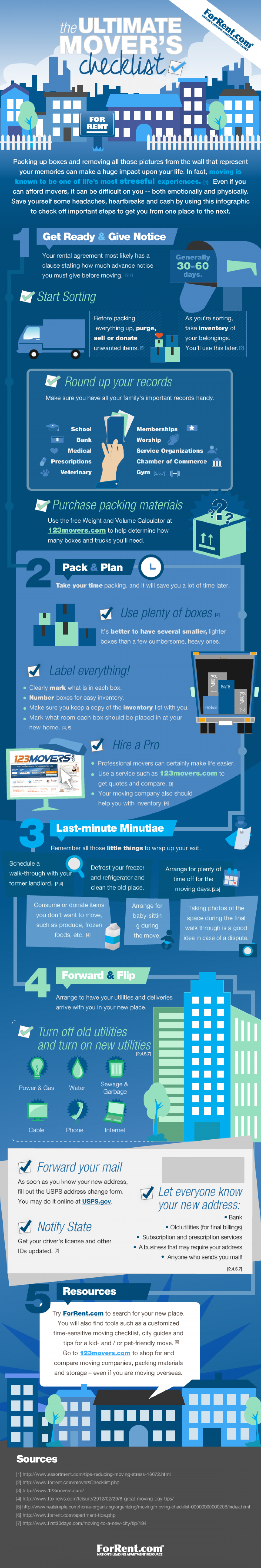 the Ultimate Mover's Checklist  Infographic